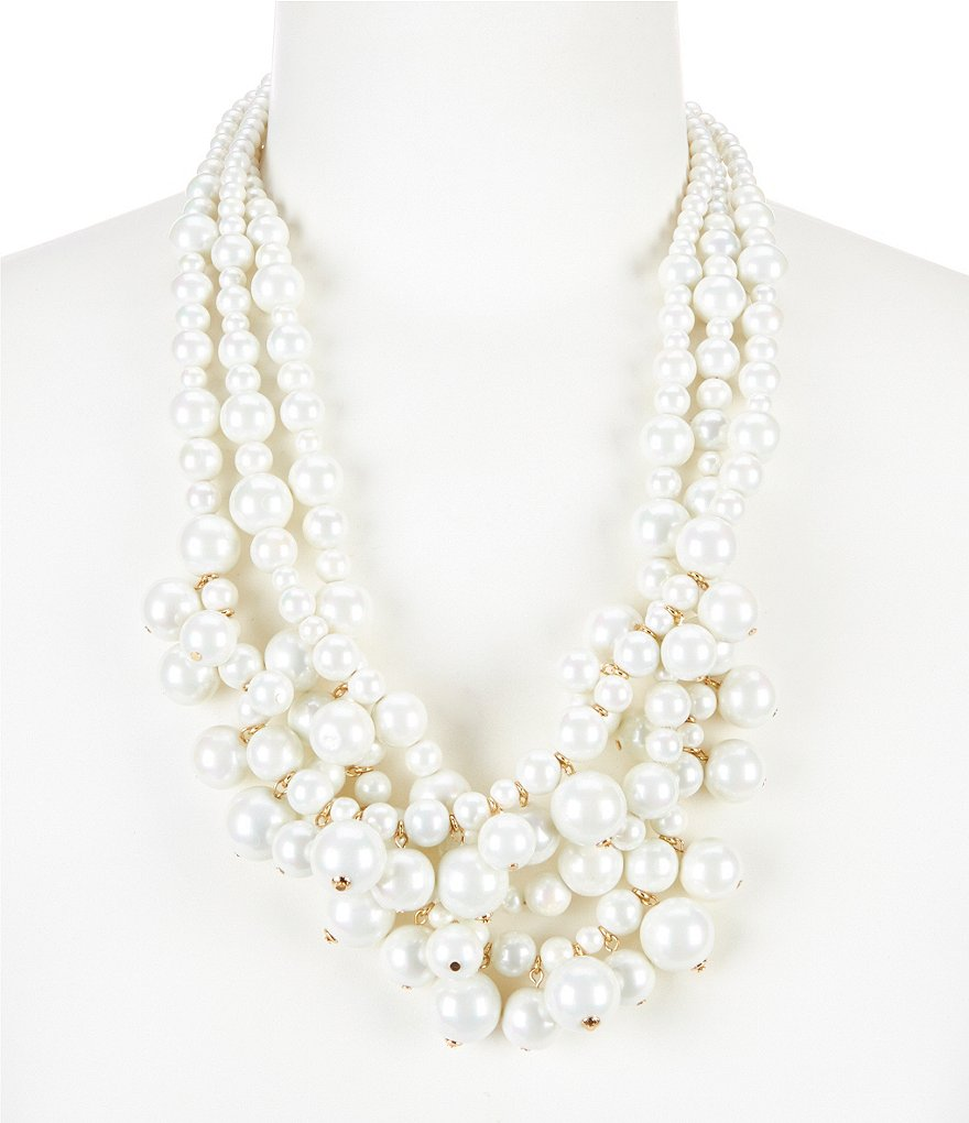 Kennedy Row Multi-Row Shaky Pearl Statement Necklace