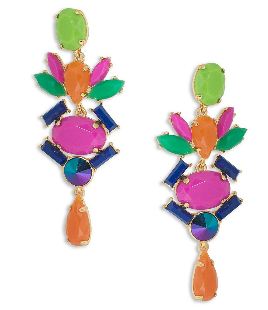 Trina Turk Color Pop Chandelier Statement Earrings