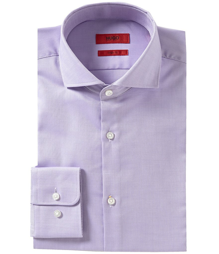 HUGO Hugo Boss Sharp Slim-Fit Spread Collar C-Meli Solid Dress Shirt