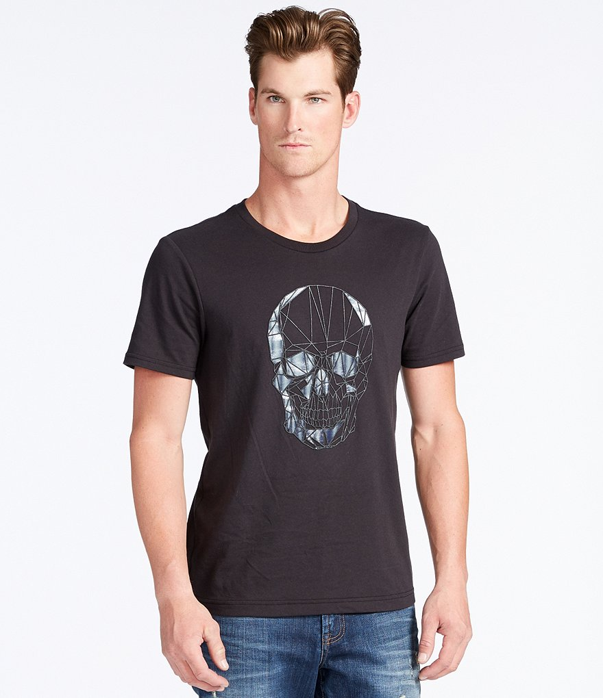 William Rast Skull Head Short-Sleeve Graphic Tee