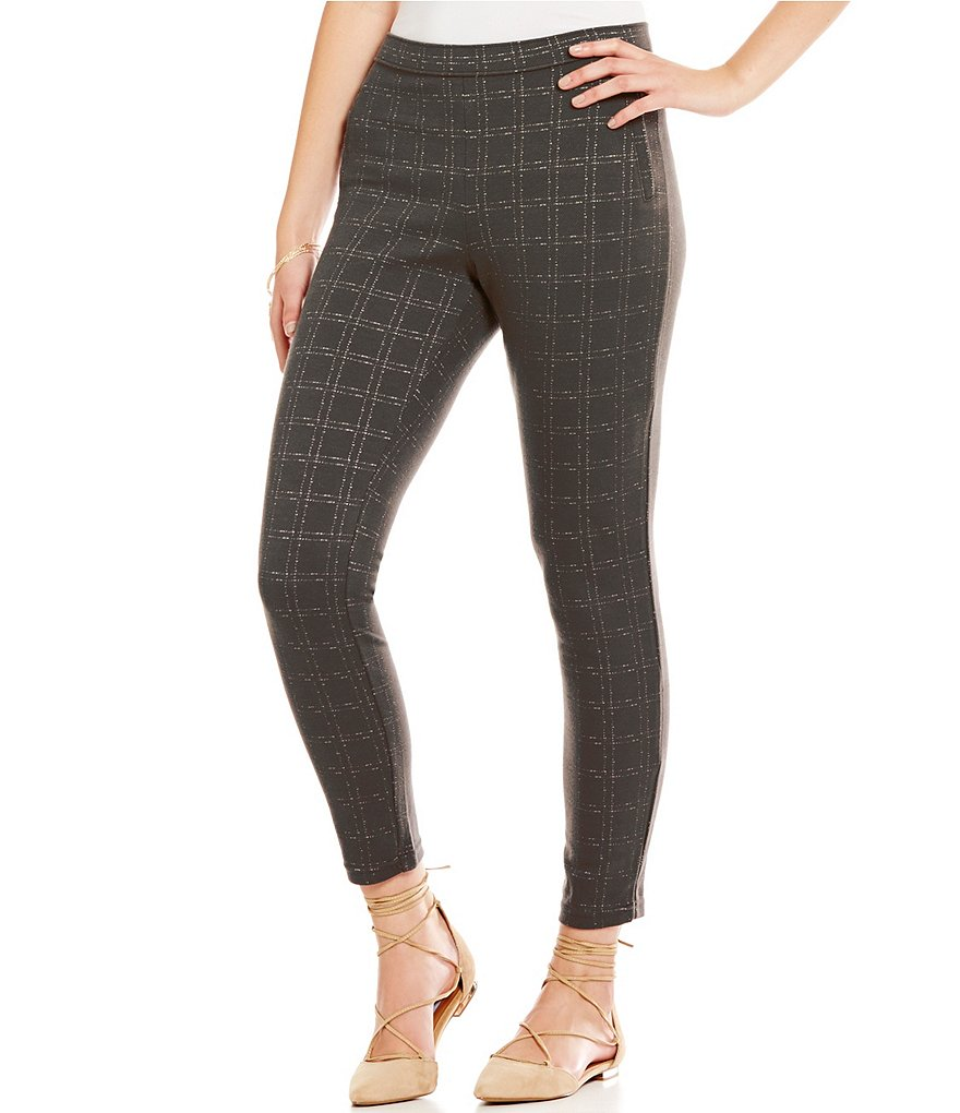 HUE Windowpane Loafer Skimmer Leggings