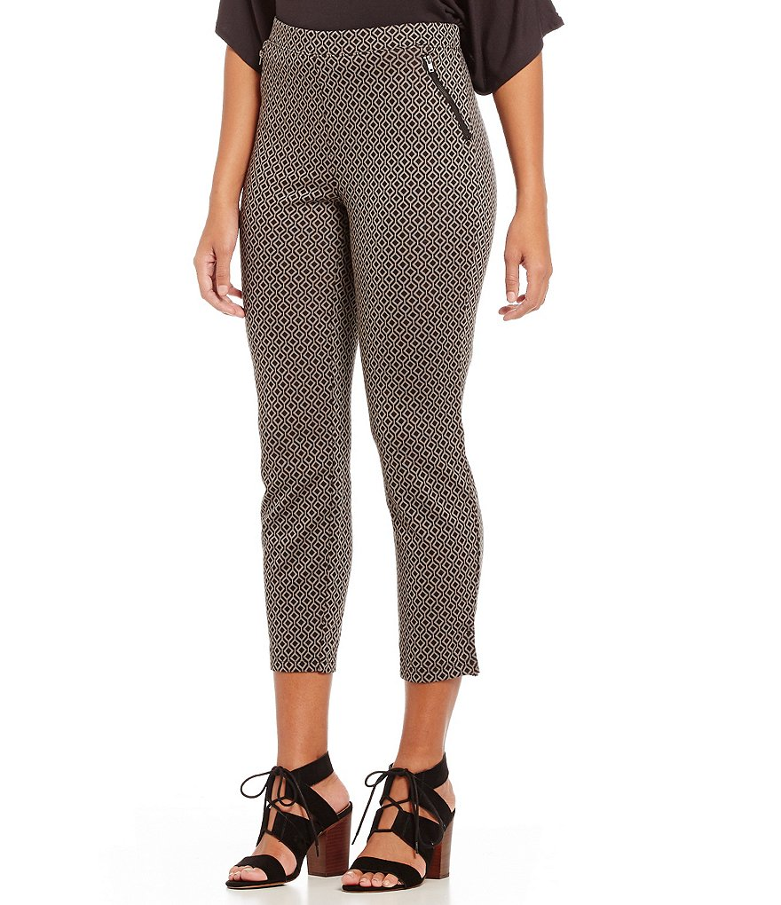 HUE Geometric Ponte Loafer Skimmer Leggings