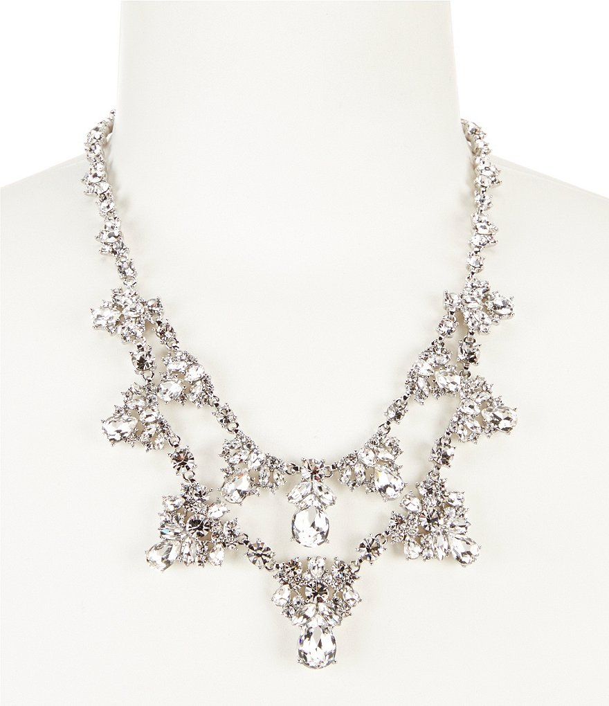 Givenchy Crystal Drama Collar Necklace