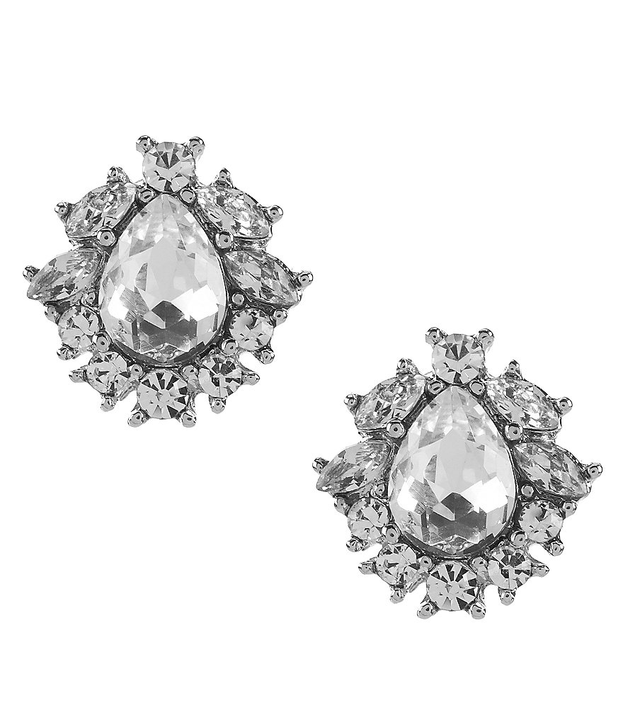 Givenchy Crystal Button Stud Earrings