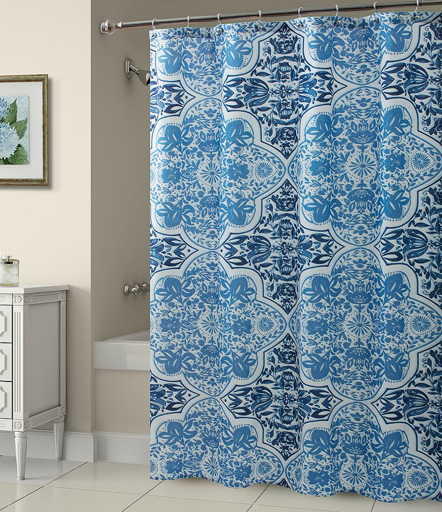 Croscill Olya Floral Medallion Shower Curtain