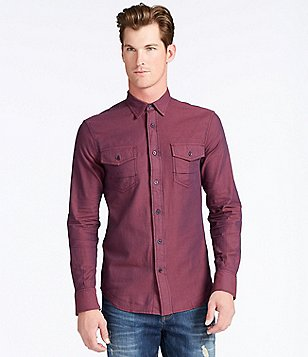 William Rast Branson Long-Sleeve Herringbone Sportshirt