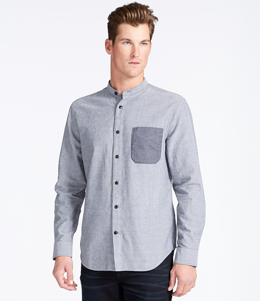 William Rast Wyatt Stand Collar Shirt