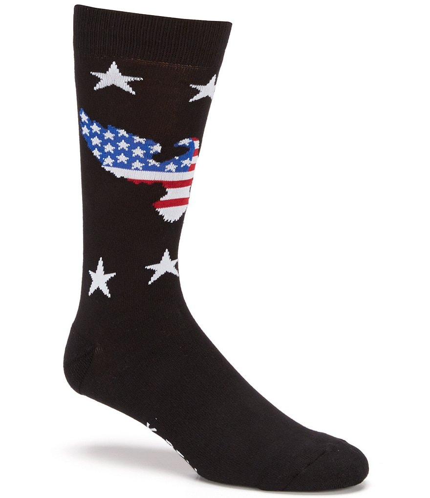 K.Bell American Flag Eagle Printed Crew Socks