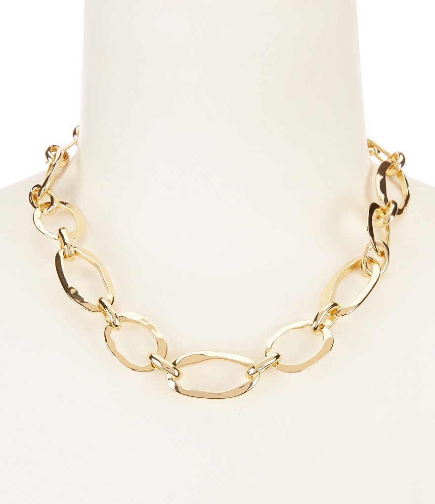 Lauren Ralph Lauren Amalfi Coast Hammered Chain Collar Necklace
