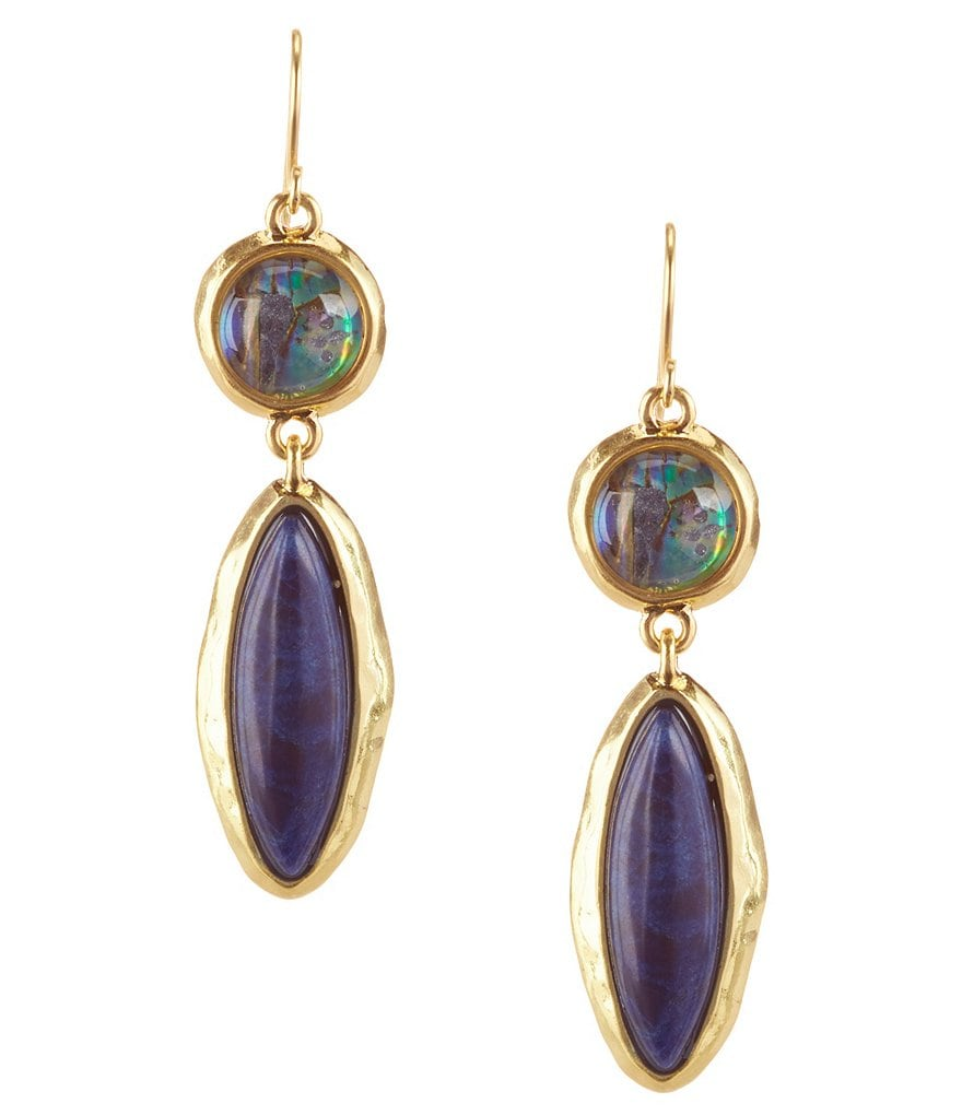 Lauren Ralph Lauren Coastal Blues Semiprecious Double Drop Earrings