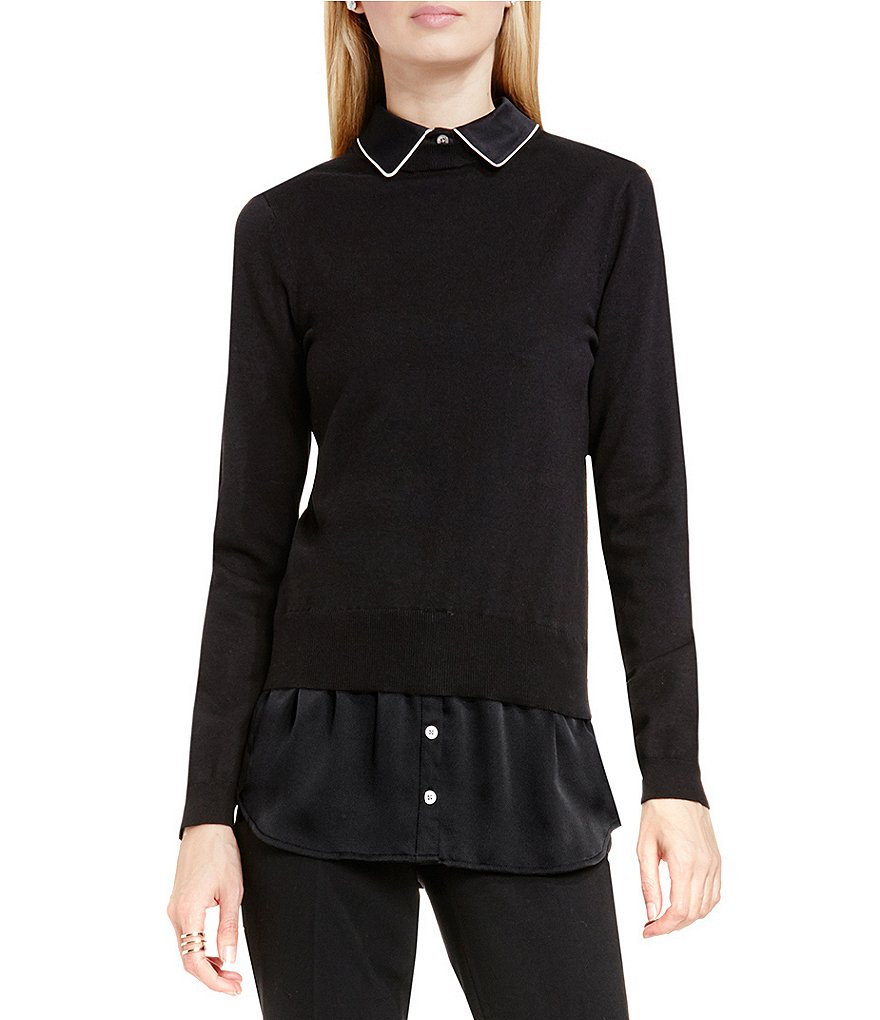 Vince Camuto Mix Media Sweater