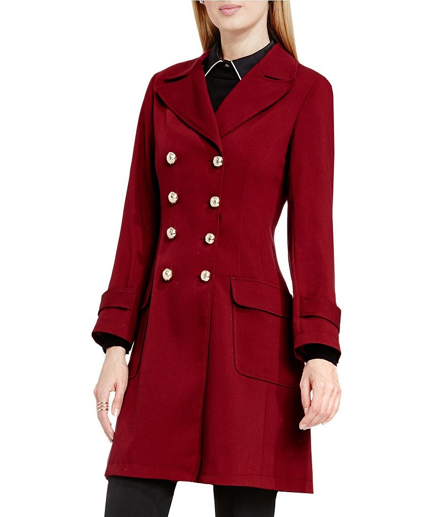 Vince Camuto Double-Breasted Patch Pocket Coat