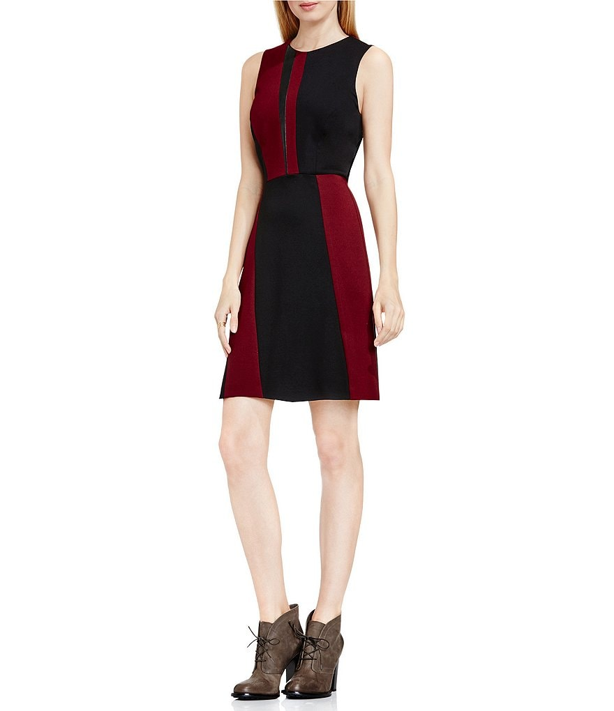 Vince Camuto Colorblocked Sleeveless Dress