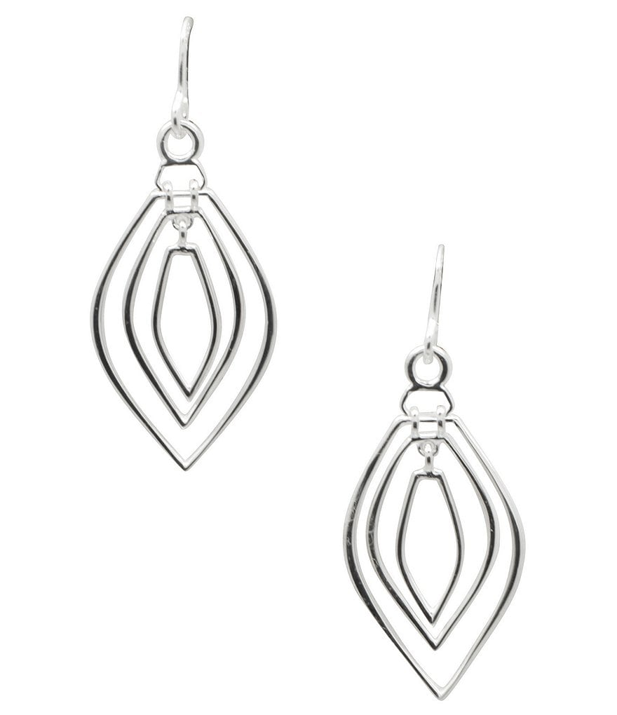 Barse Sterling Silver Openwork Drop Earrings