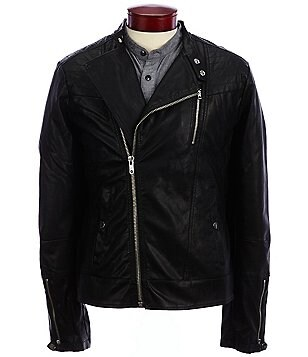 William Rast Jax Coated Moto Jacket