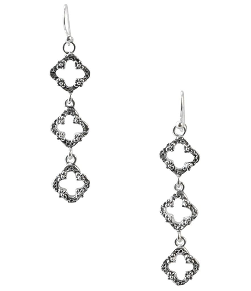 Barse Sterling Silver Linear Earrings