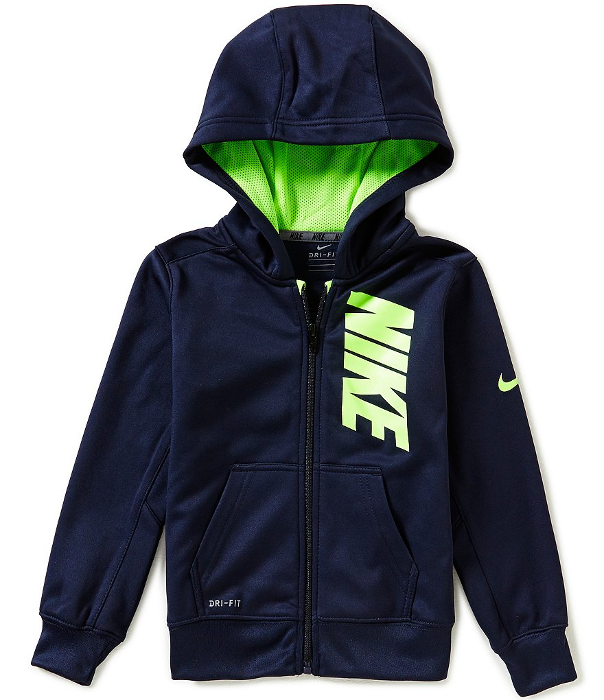 Nike Little Boys 2T-7 Therma Full-Zip Graphic Hoodie