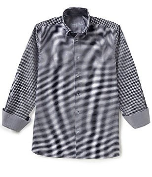 Visconti Long-Sleeve Houndstooth Woven Shirt