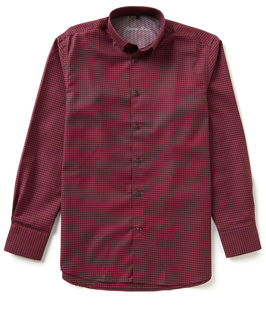 Visconti Long Sleeve Houndstooth Shirt