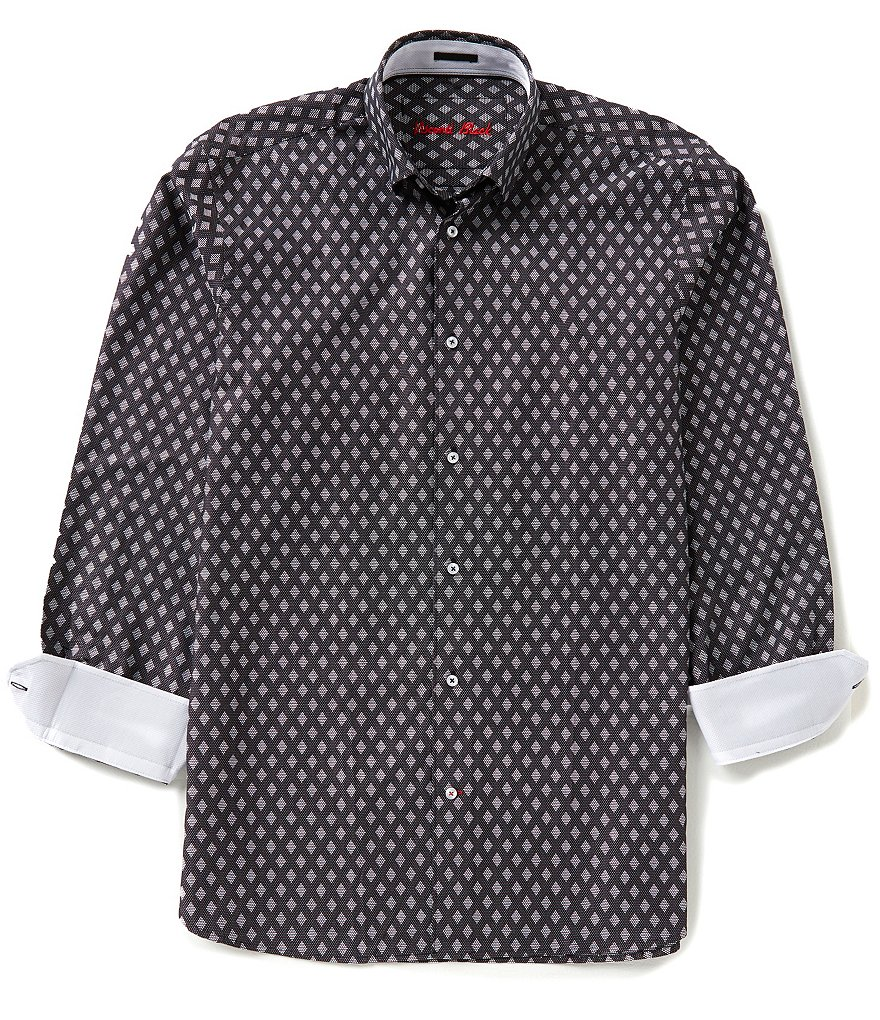 Visconti Long-Sleeve Diamond Woven Shirt