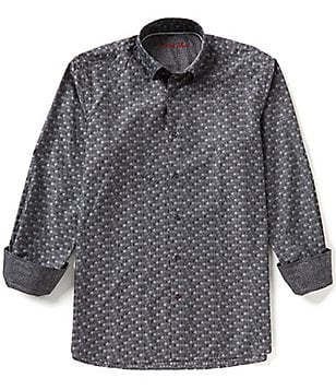 Visconti Long-Sleeve Square Woven Shirt