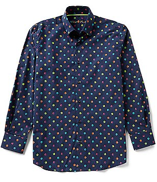 Visconti Long-Sleeve Mini-Floral Print Woven Shirt