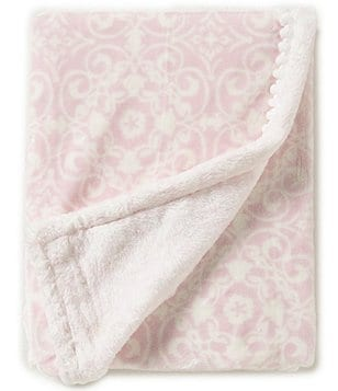 Edgehill Collection Baby Girls Toile Pom Blanket