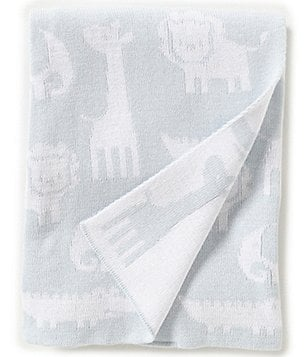 Edgehill Collection Baby Boys Animal Sweater Blanket