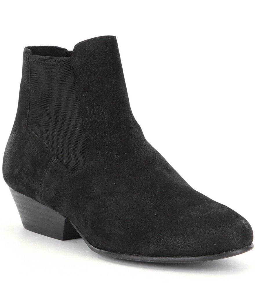 Eileen Fisher Knack Tumbled Nubuck Elastic Slip On Booties