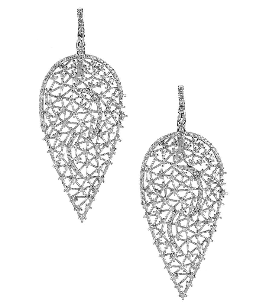 C by Cezanne Cubic Zirconia Drop Earrings
