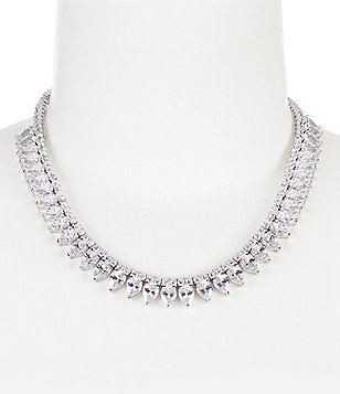 C by Cezanne Cubic Zirconia Teardrop Collar Necklace