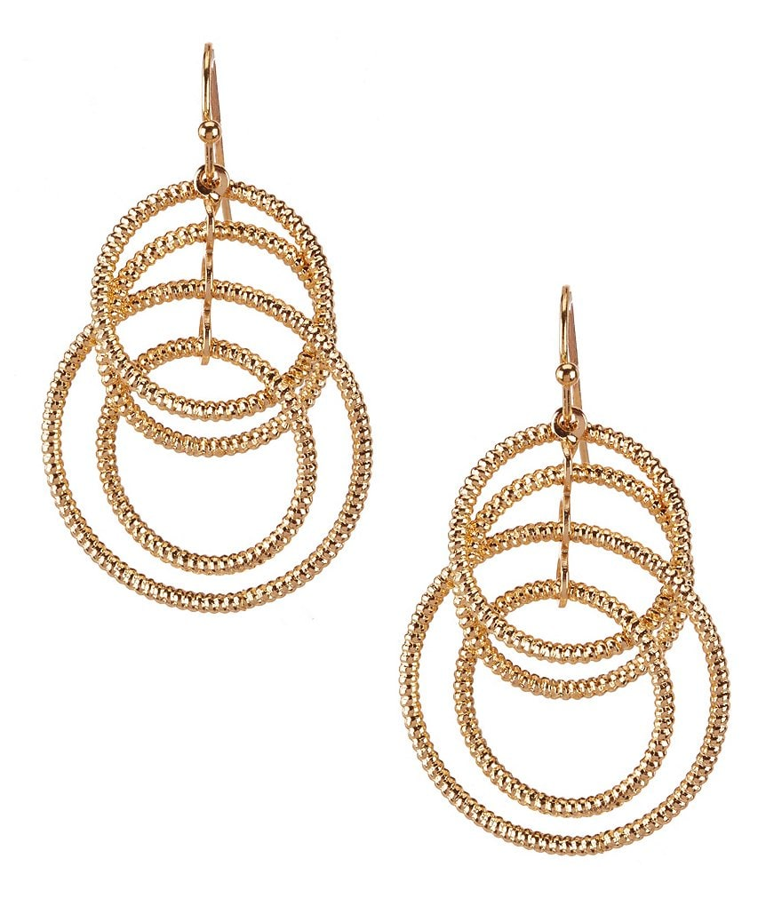 Natasha Accessories Interlocking Circle Drop Earrings