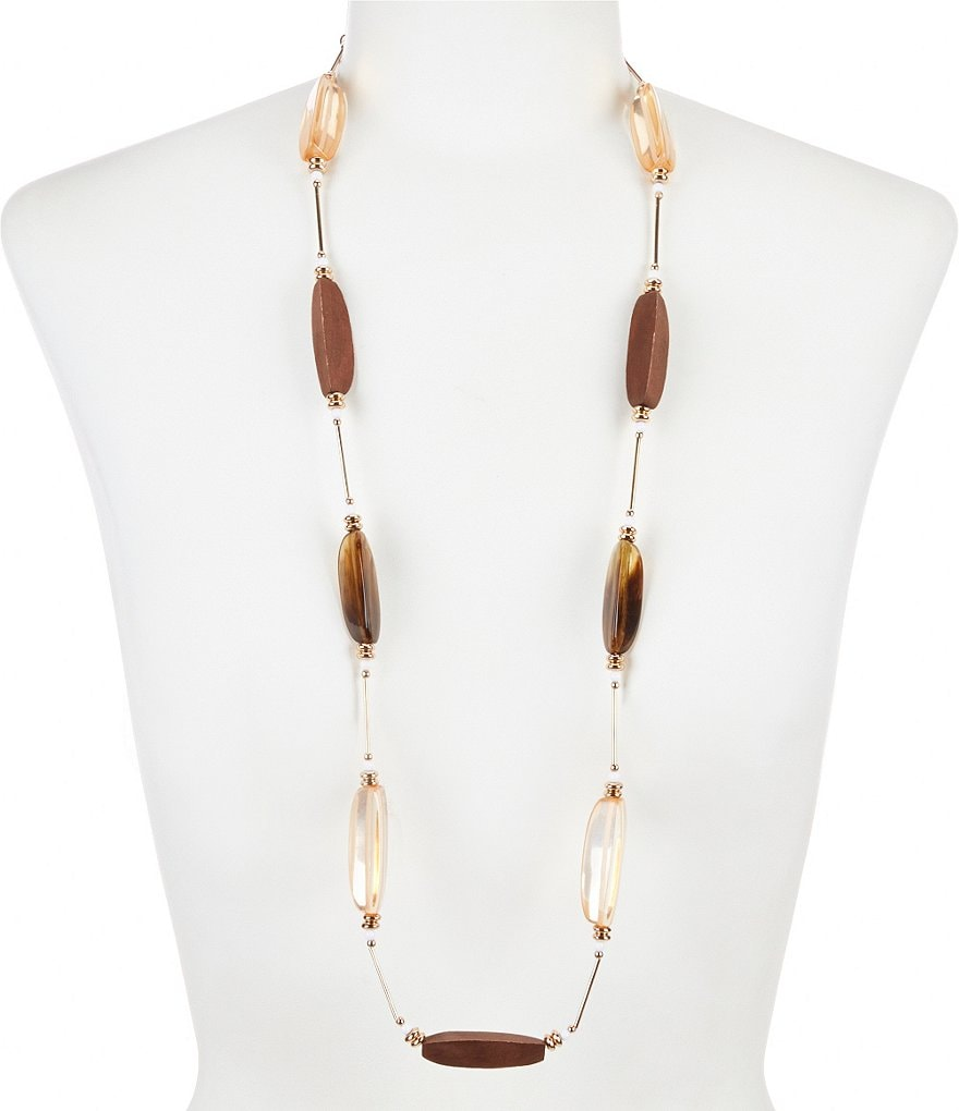 Natasha Accessories Stone Station Necklace