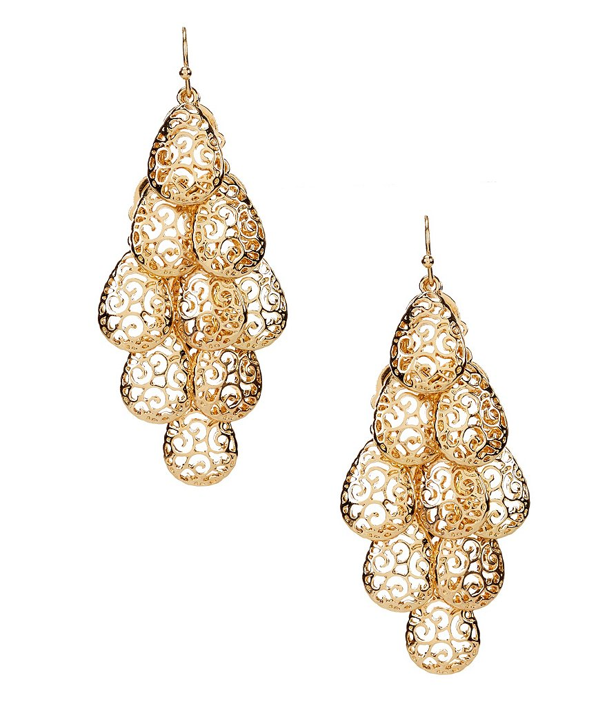 Anna & Ava Carly Filigree Chandelier Statement Earrings