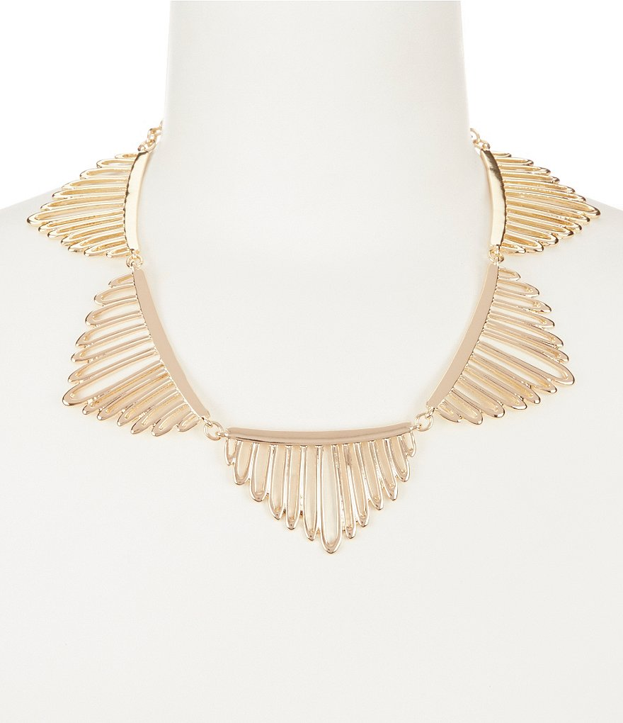 Anna & Ava Jaclyn Openwork Statement Necklace
