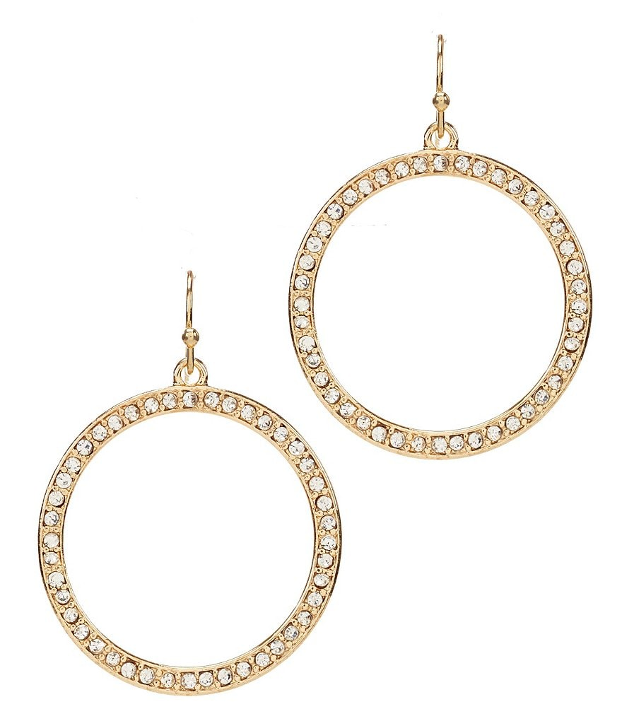 Anna & Ava Cassandra Drop Hoop Earrings