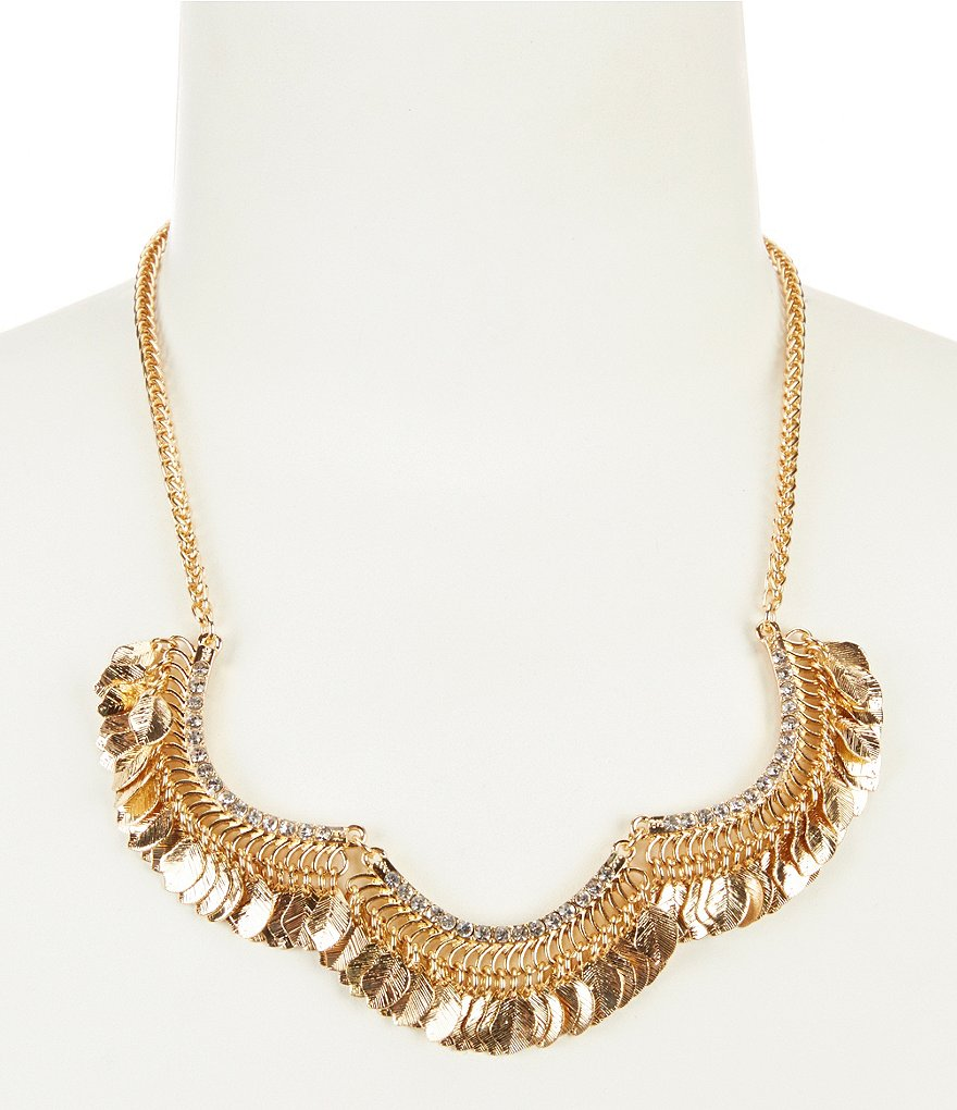 Anna & Ava Ross Dangling Leaf Statement Necklace