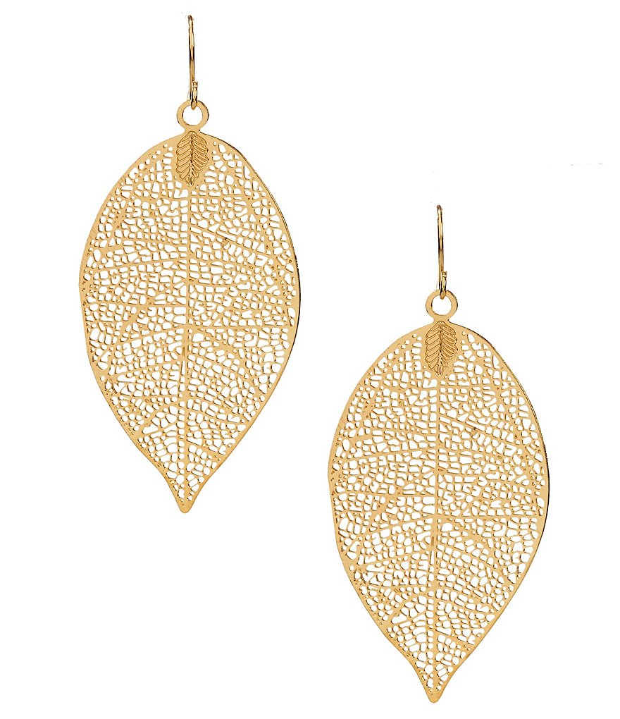 Anna & Ava Gunther Openwork Leaf Drop Earrings