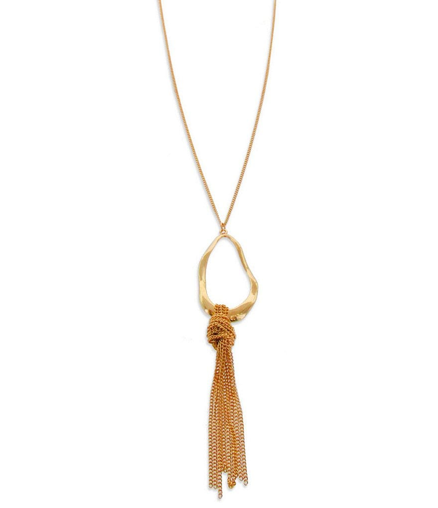 Panacea Chain-Tassel Pendant Necklace