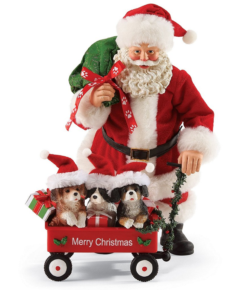 Possible Dreams Santa & His Pets Collection Waggin´ Figurine Set