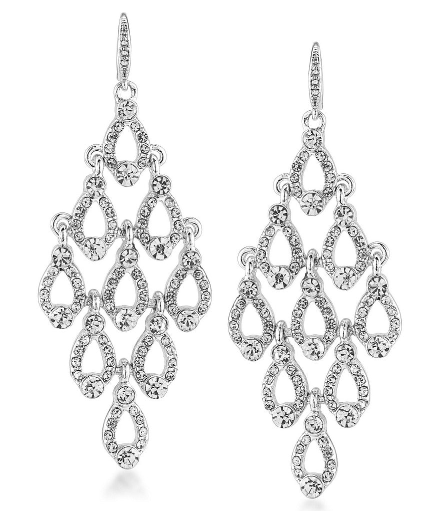 Carolee Columbus Circle Chandelier Statement Earrings
