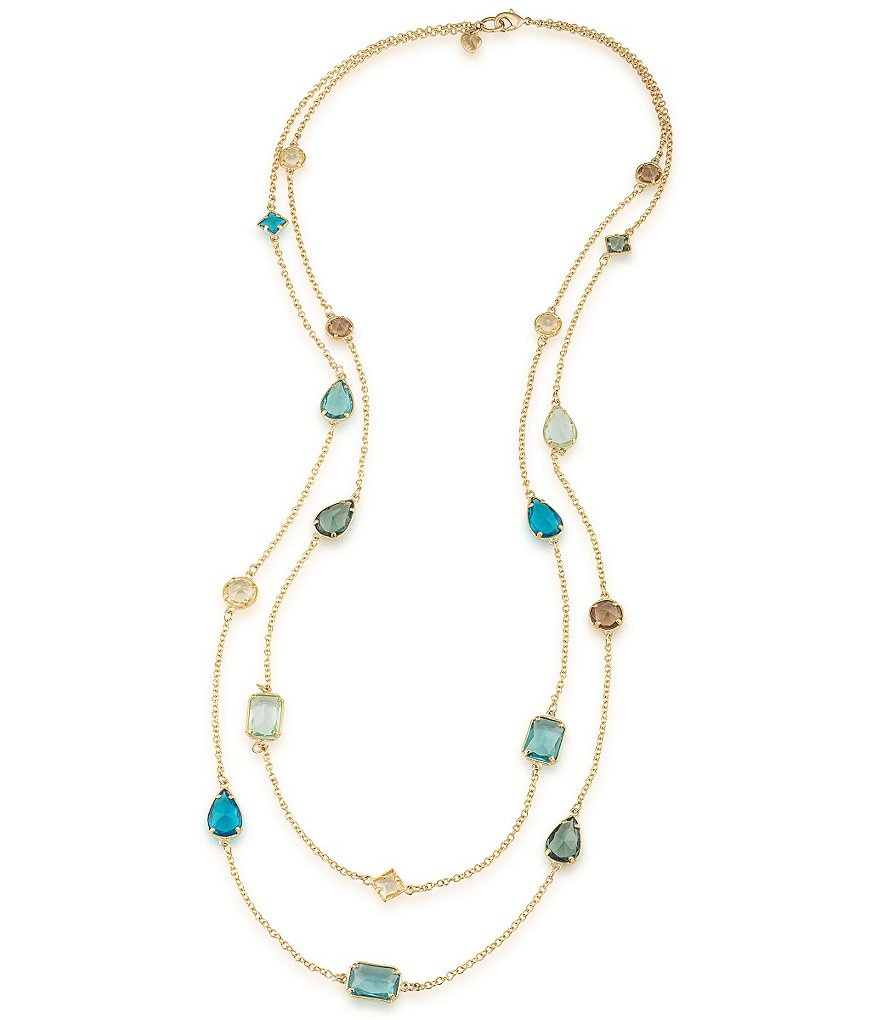 Carolee Gramercy Park Double-Row Station Necklace