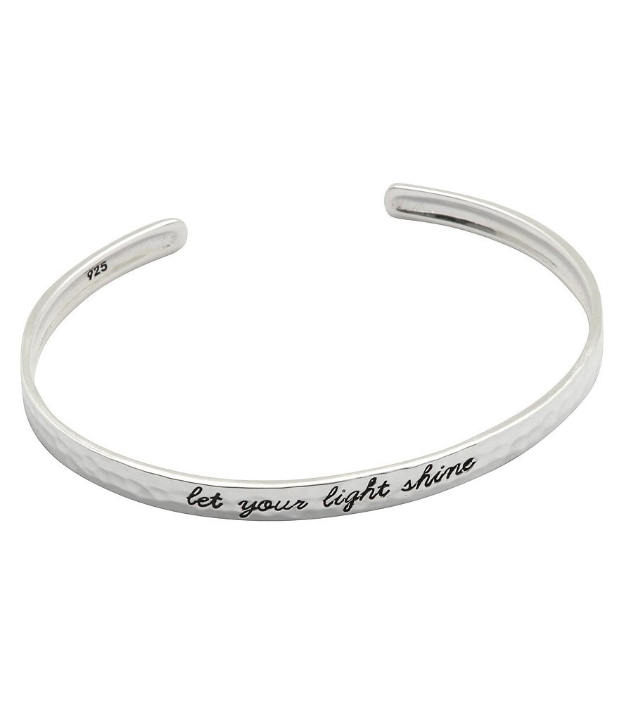 Calvary Let Your Light Shine Adjustable Sterling Silver Cuff Bracelet