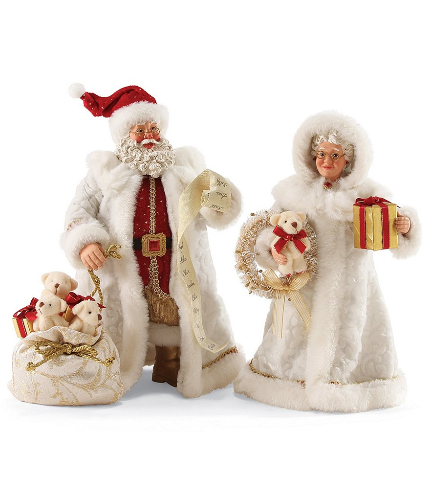 Possible Dreams Ruby Anniversary Santa & Mrs. Claus Figurine Set