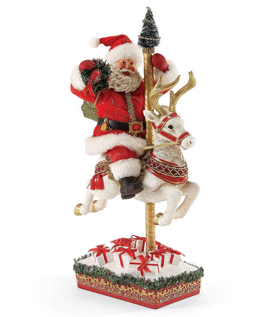 Possible Dreams Ruby Anniversary Carousel Santa Figurine