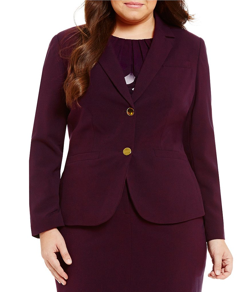 Calvin Klein Plus Luxe Two-Button Jacket