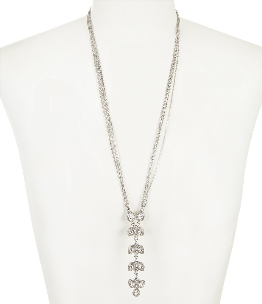 Gemma Layne Pavé Teardrop Y-Necklace