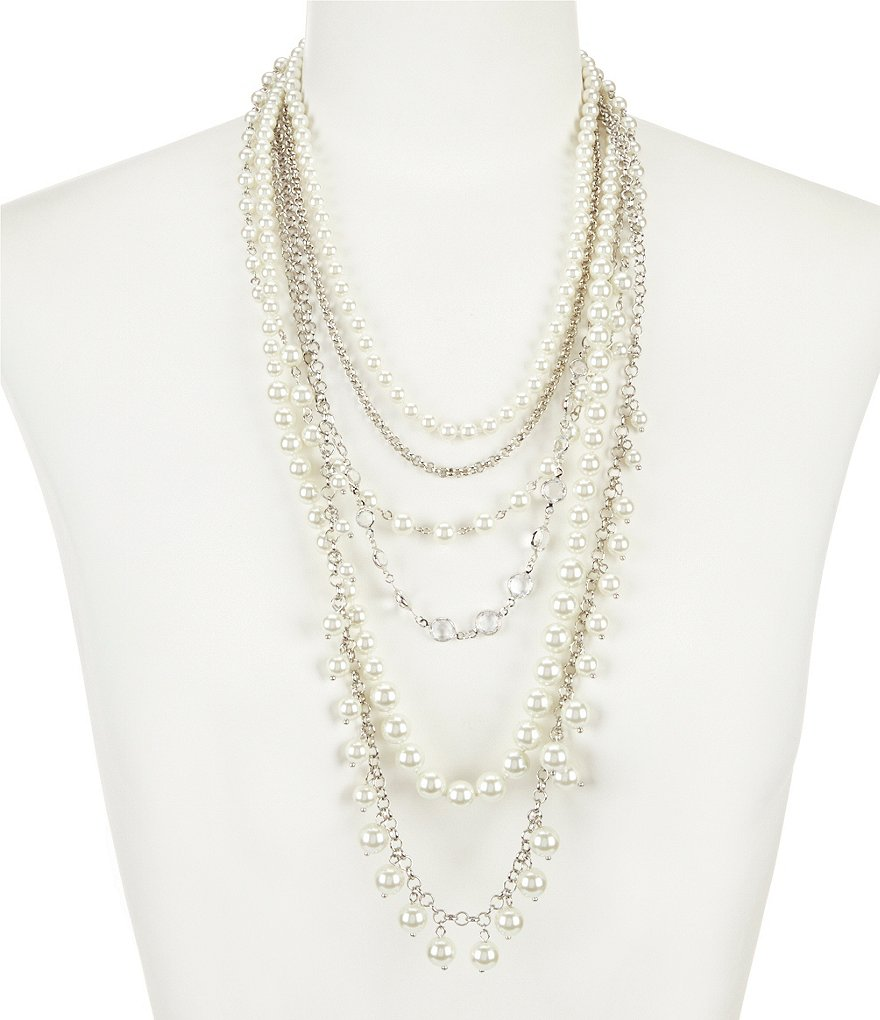 Gemma Layne Multi Strand Pearl Necklace