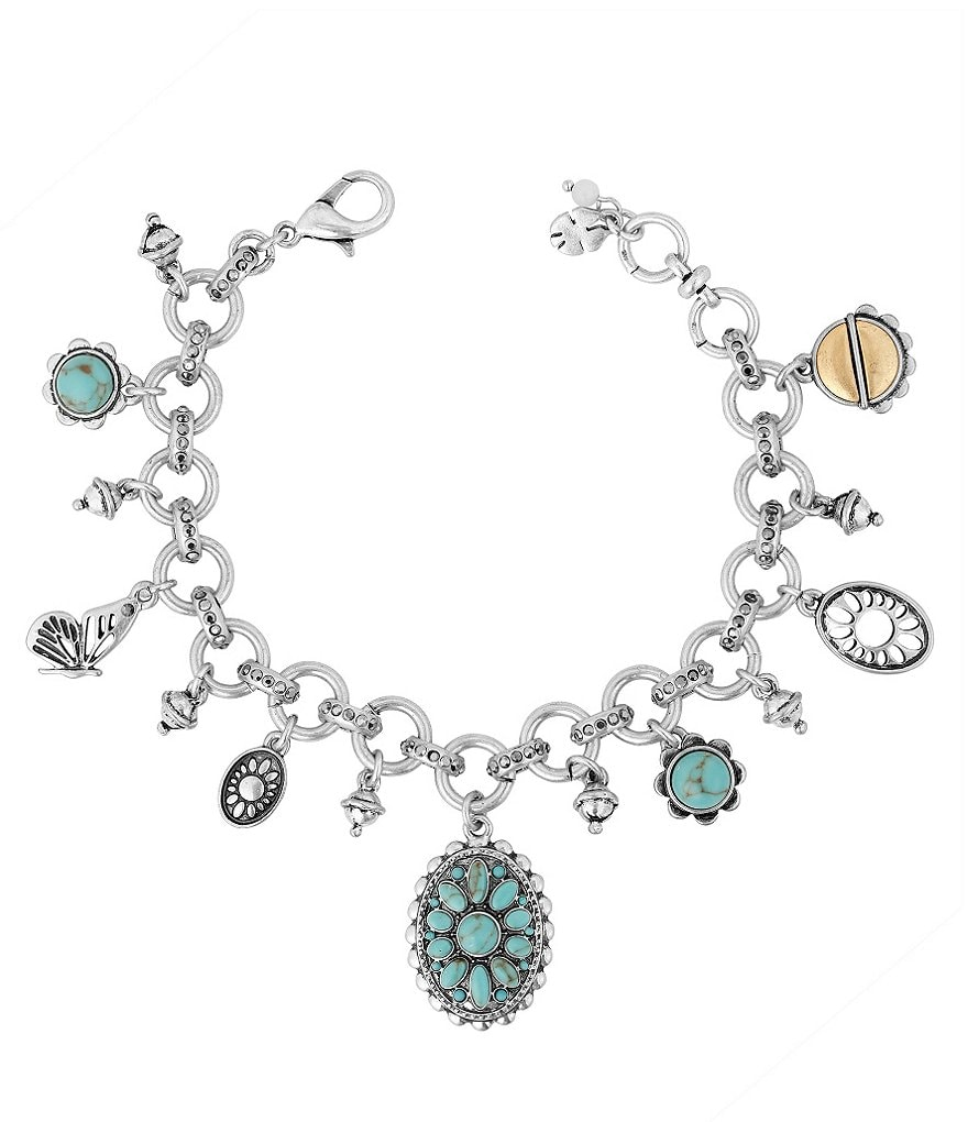 Lucky Brand Butterfly Turquoise Charm Bracelet