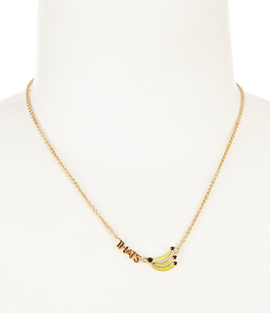 kate spade new york That´s Bananas Gold Collar Necklace